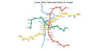 Mappa metropolitana Praga